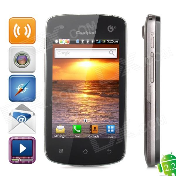 "Coolpad 8810 Android 2.2  GSM / TD-SCDMA Bar Phone w/ 3.5"", Wi-Fi, 5.0MP and GPS - Black + Coffee"