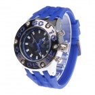Super Speed V6 NO.V0203 Fashion Men's Silicone Band Quartz Wrist Watch - Blue