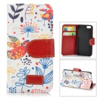 Retro Style Cuckoo Pattern Stylish Protective Flip Open Case w/ Stand / Card Slots for IPHONE 5 / 5S