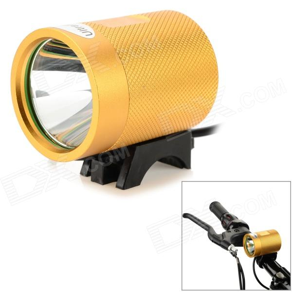 UltraFire MT-40 LED 600LM 3-Mode Cool White Bicycle Lamp - Golden + Black