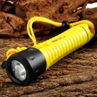 POP LITE F12 T6 650LM 3-Mode White LED Diving Flashlight Torch - Orange Yellow (3 x 18650)