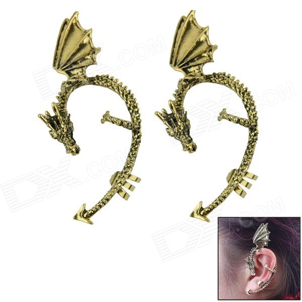 Dragon-shaped Metal Ear Clip / Ear Studs - Coppery (2 PCS) the charmer