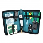 WLXY WL-1101 Repairing Network Tester + Screwdrivers + Wire Strippers Set - Green + Black + White