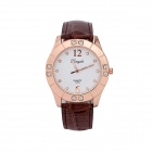 GERRYDA Fashionable Women's Quartz Wrist Watch w/ Crystal Inlaid - Rose Gold (1 x LR626)