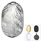 5-in-1 Oval Shape Folding Portable Reflective Board Set - Silver + Golden (60 x 93cm)