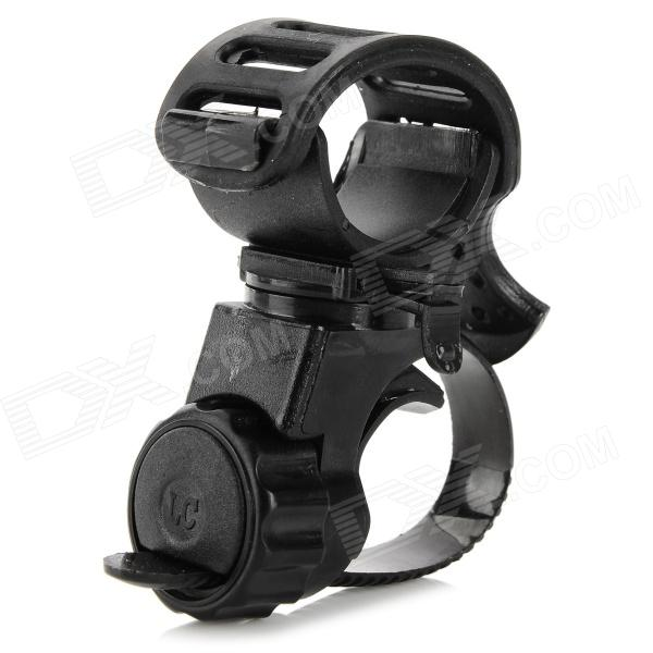 LC-6 Plastic Cycling Bike Handle Bar Holder for Flashlight - Black
