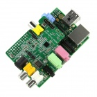 Raspberry Pi Project Board + Wolfson PI Audio Card for Raspberry PI - Green