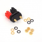 ZnDiy-BRY 4MM DIY Amplifier Two-position Audio Speaker Binding Post Terminal - Black + Red