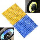 LIKAI C12 Bike Reflective Spoke Clips Stripe - Blue + Yellow