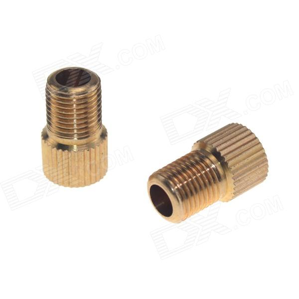 Presta Valve to Schrader Valve Adapter Converters - Golden (2PCS)