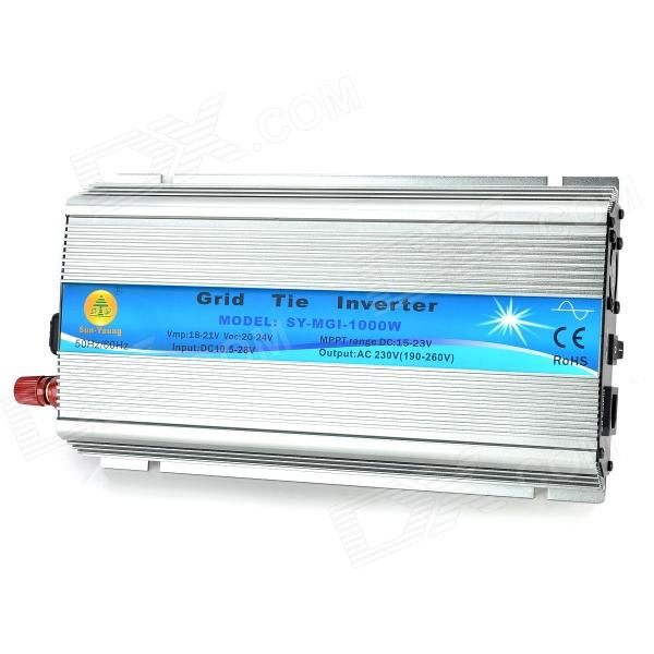 SUN-YOUNG SY-GWV-1000W Grid Tie Inverter - Iron Grey (DC 10.5~28V) 600w off grid inverter pure sine wave inverter for solar and wind system 110v dc to ac 100 110 120 220 230 240v