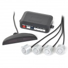 "0.6"" LED 4-Sensor Car Parking Assistant Radar System - Silver + Black (DC 9~15V)"
