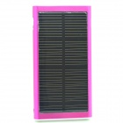 "Solar Powered ""2600mAh"" External Battery Charger Power Bank w/ LED Indicator - Deep Pink"