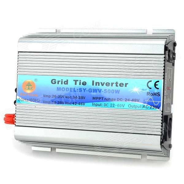 SUN-YOUNG SY-GWV-500W Grid Tie Inverter - Iron Grey (DC 22~60V) 600w off grid inverter pure sine wave inverter for solar and wind system 110v dc to ac 100 110 120 220 230 240v