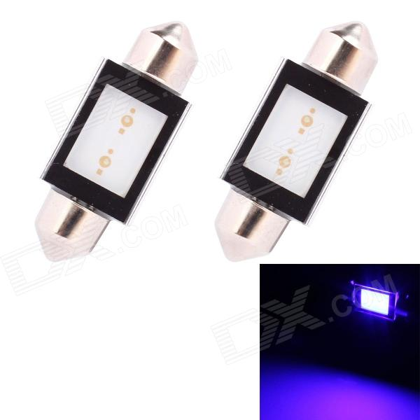 Festoon 36mm 2W 150lm COB LED Blue Light Car Auto Reading Lamp/License Plate Light (12V / 2 PCS)