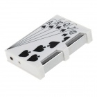 6128 Playing Card Flush Style Electric Shock Butane Jet Lighter Tricky Toy - White + Red + Black