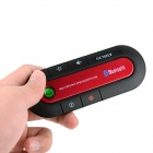 OUMILY Sunvisor Bluetooth V3.0 Handsfree + Electric Voltage Meter Car Kit - Black + Red