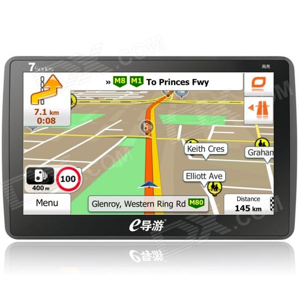 HD 7 Win CE 6.0 GPS Navigation w/ Bluetooth / FM Transmitter / 8GB Brazil Argentina Map - Black gps навигатор lexand sa5 hd