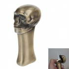 6713 Skull Shape Super Fire Windproof Butane Jet Gas Lighter - Golden