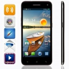 "KICCY 6.9mm Ultra-thin Quad-core Android 4.2 WCDMA Bar Phone w/ 5.0"" IPS, Wi-Fi, GPS, OTG - Black"