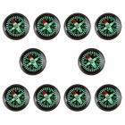 New Edition Professional Big Compass with PU Watch Buckle - Black + Green (10 PCS)