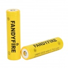 FANDYFIRE 3.7V 2400mAh Rechargeable 18650 Li-ion Battery - Yellow (2 PCS)