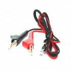 ZnDiy-BRY 150cm Communication Test Line w/ Acupuncture Alligator Clip - Black + Red