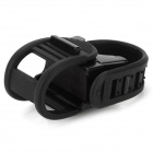 Adjustable Plastic Cycling Bike Flashlight Holder - Black