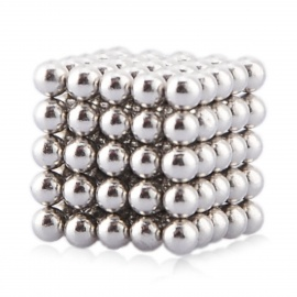 Magnetic Balls Beads Sphere Intelligence Toy - Silver (3mm/125PCS)