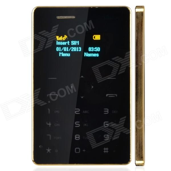 "Mooc X5 1.0"" Screen GSM Card Phone w/ Alarm Clock, Calendar - Black + Golden"