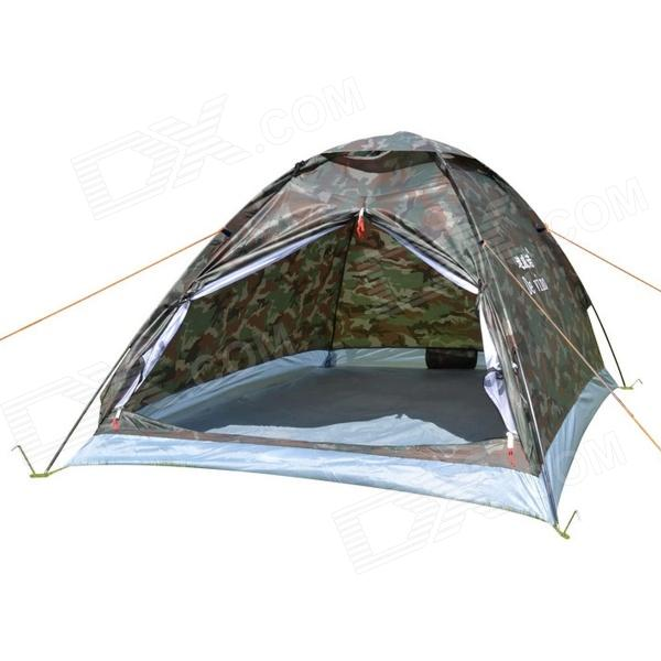 DeVino Outdoor Camping Waterproof Oxford 2-Person Tent - Woodland Camouflage