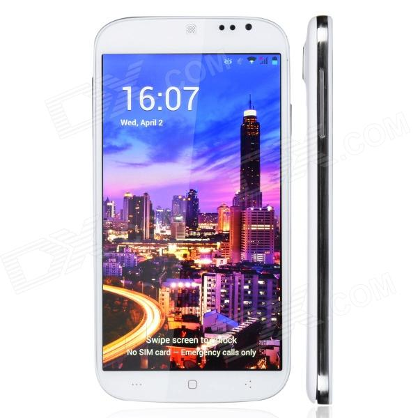 "KINGZONE S1 Android 4.3 WCDMA Quad-core Bar Phone w / 5.0 ""IPS, Bluetooth, GPS - Blanc"