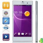 "Z1 MTK6582 Quad-Core Android 4.2.2 WCDMA Bar Phone w/ 5.0"" IPS, 1GB RAM, 8GB ROM, FM, GPS - White"