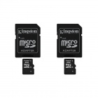 Kingston 4GB microSDHC Class 4 Flash Memory Cards with SD Adapter (2PCS)