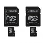 Kingston 8GB microSDHC Class 4 Flash Memory Cards with SD Adapter (2PCS)