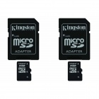 Kingston 16GB microSDHC Class 4 Flash Memory Cards with SD Adapter (2PCS)