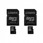 Kingston 8GB microSDHC Class 10 Flash Memory Cards with SD Adapter (2PCS)