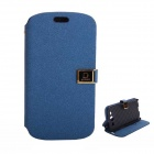 Protective PU Leather Case Cover Stand w/ Dual Card Slots for Samsung Galaxy S3 i9300 - Deep Blue