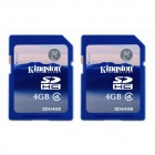Kingston 4GB SDHC Class 4 Flash Memory Cards (2PCS)