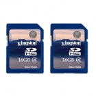 Kingston 16GB SDHC Class 4 Flash Memory Cards (2PCS)