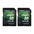 Kingston 16GB SDHC Class 10 UHS-I Flash Memory Cards (2PCS)