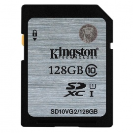 Kingston SDXC 128GB UHS-I Class10 Read:80Mb/s SD10VG2/128GB