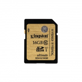 Kingston Ultimate SDHC 16GB UHS-I Class 10 Read:90MB/s SDA10/16GB