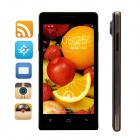 "C5000 MTK6572 Dual-Core WCDMA Android 4.2 Bar Phone w/ 4.7"" QHD IPS, 512MB RAM, 4GB ROM - Black"