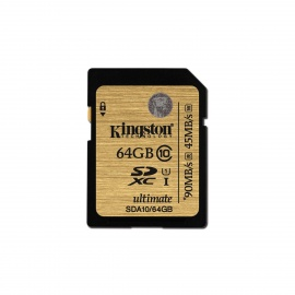 Kingston Ultimate SDXC 128GB UHS-I Class 10 Read:90MB/s SDA10/128GB