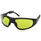 Stylish 1064nm Anti-Laser Radiation Resistant Glasses Goggles - Black + Green
