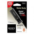 Genuine Sony 8GB Micro Vault Click USB 3.0 Flash Drive USM8GU - Black