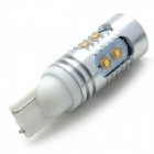 T10 25W 400lm 10-LED hvit bil Instrument / Signal / lesing / Tail Light - (12 ~ 24V)