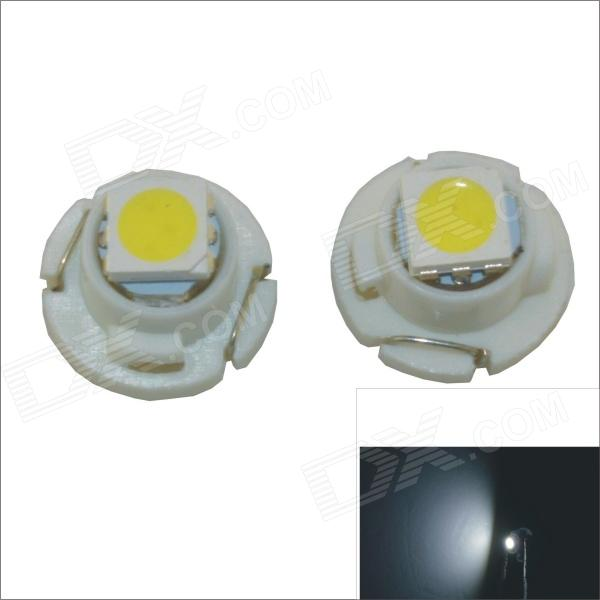 T4.7 0.2W 1-SMD 5050 LED White Light Car Instrument lampa - (12V / 2 PCS)