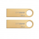 Kingston Digital 8GB DataTraveler GE9 USB 2.0 Drives DTGE9/8GB (2PCS)